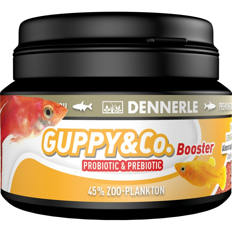Dennerle guppy co booster livebearer fish food 100ml for Guppy fish food