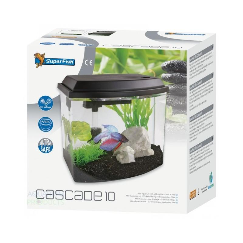 Superfish cascade 10 mini aquarium in white for Mini aquarium