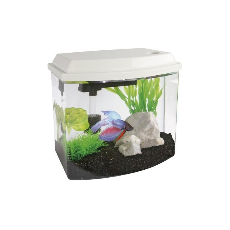 Superfish cascade 10 mini aquarium in white for Mini poisson aquarium