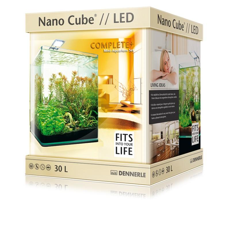 dennerle nano cube 20l complete plus led aquarium set pro. Black Bedroom Furniture Sets. Home Design Ideas