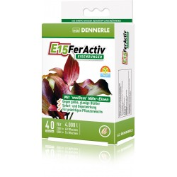 Dennerle E15 FerActiv Iron Fertilizer 4000L 40 Tablets