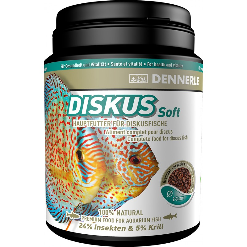 Dennerle diskus soft premium fish food 1000ml for discus for Discus fish food