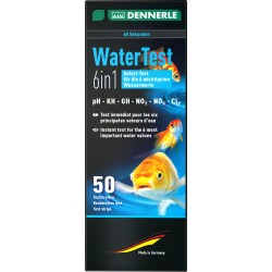 Dennerle Water Test Kit 6 in 1 - 50 Test Strips