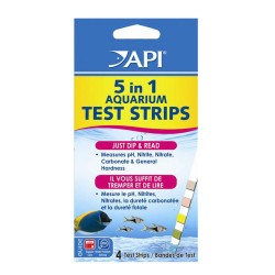 API 5 in 1 Aquarium Test Strips (4pcs)