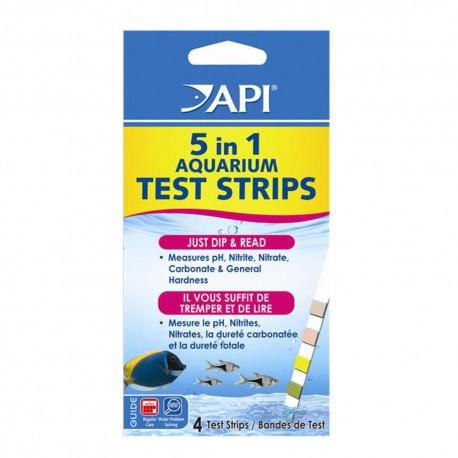 API 5 in 1 Aquarium Test Strips (4pcs)