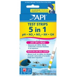 API 5 in 1 Aquarium Test Strips (25 pcs)