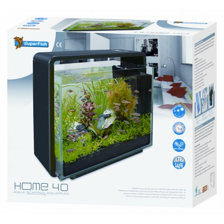 SuperFish Home 40 Aquarium Black