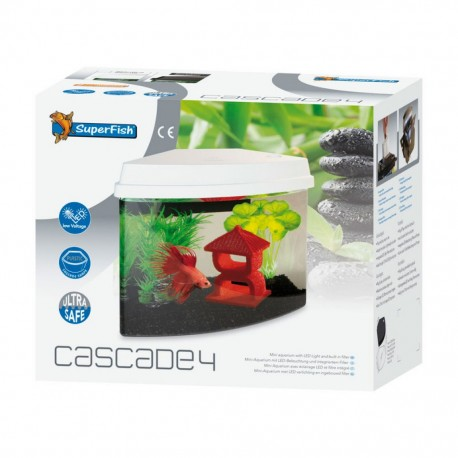 SuperFish Cascade 4 Mini Aquarium White