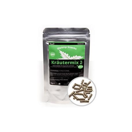 GlasGarten Shrimp Snacks Herbal Mix 2 + Mint