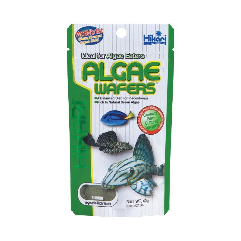 Hikari Algae Wafers 40g Pleco Catfish Food Pro Shrimp