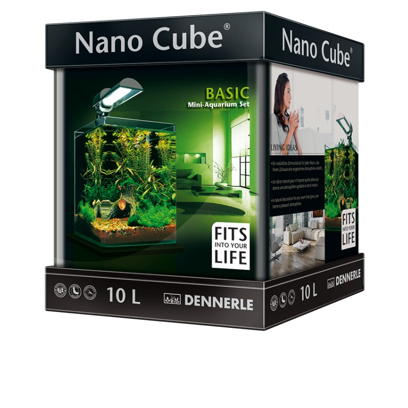 dennerle nano cube 10l basic complete aquarium set pro shrimp uk. Black Bedroom Furniture Sets. Home Design Ideas