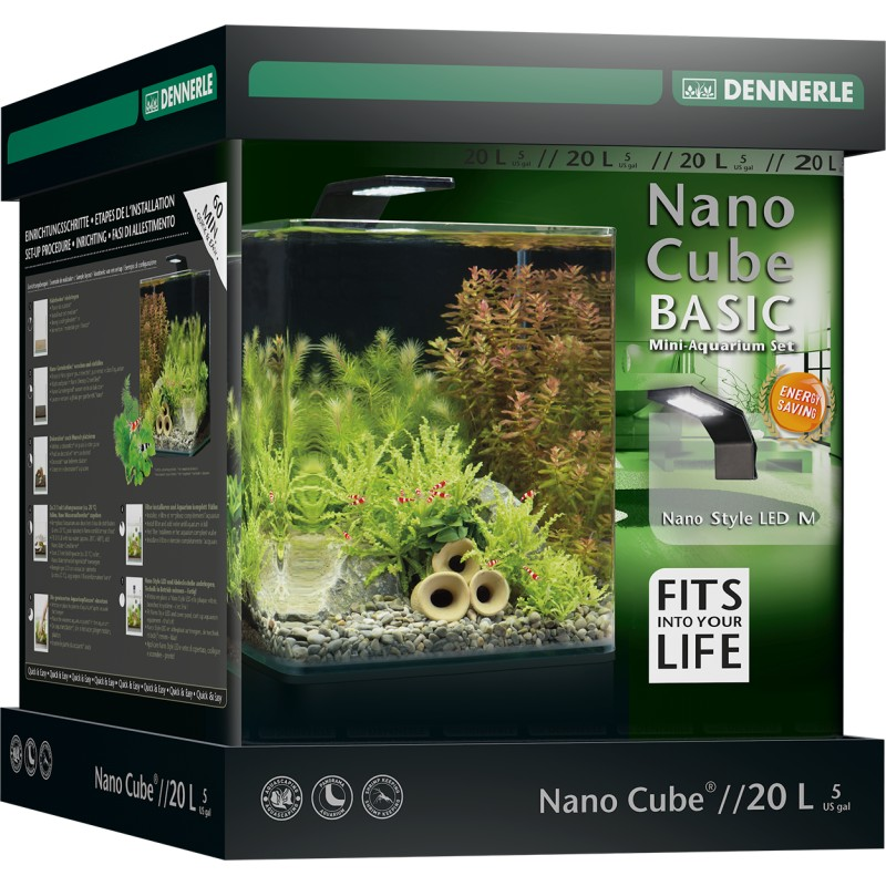 Dennerle nano cube 20l basic style led aquarium set for Aquarium nano cube