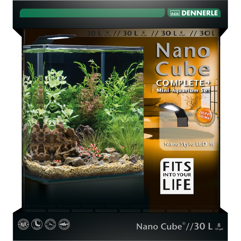 dennerle nano cube 30l complete plus style led aquarium set. Black Bedroom Furniture Sets. Home Design Ideas