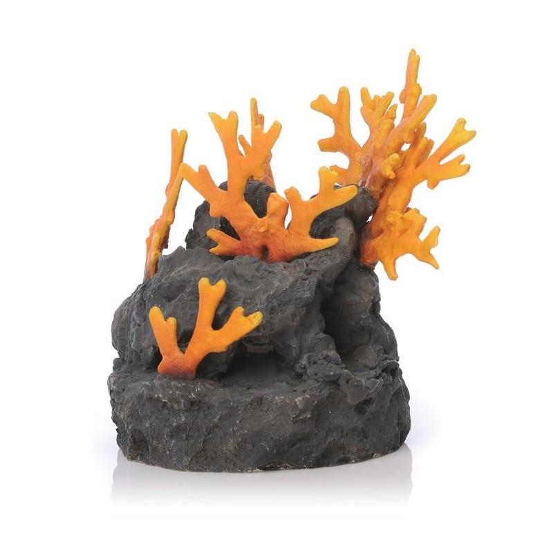 biorb lava fire coral ornament 23cm