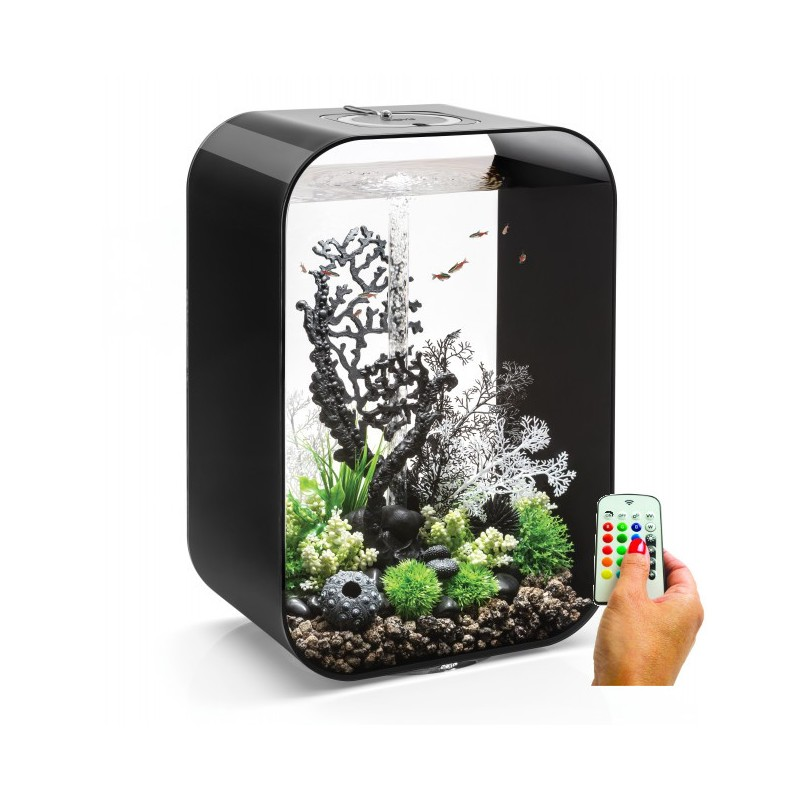 biorb life 60 60l aquarium black mcr led light. Black Bedroom Furniture Sets. Home Design Ideas