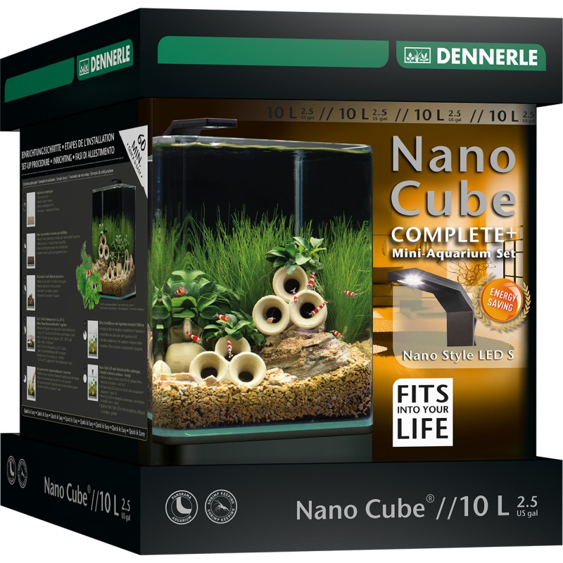 dennerle nano cube 10l complete plus style led pro shrimp uk. Black Bedroom Furniture Sets. Home Design Ideas