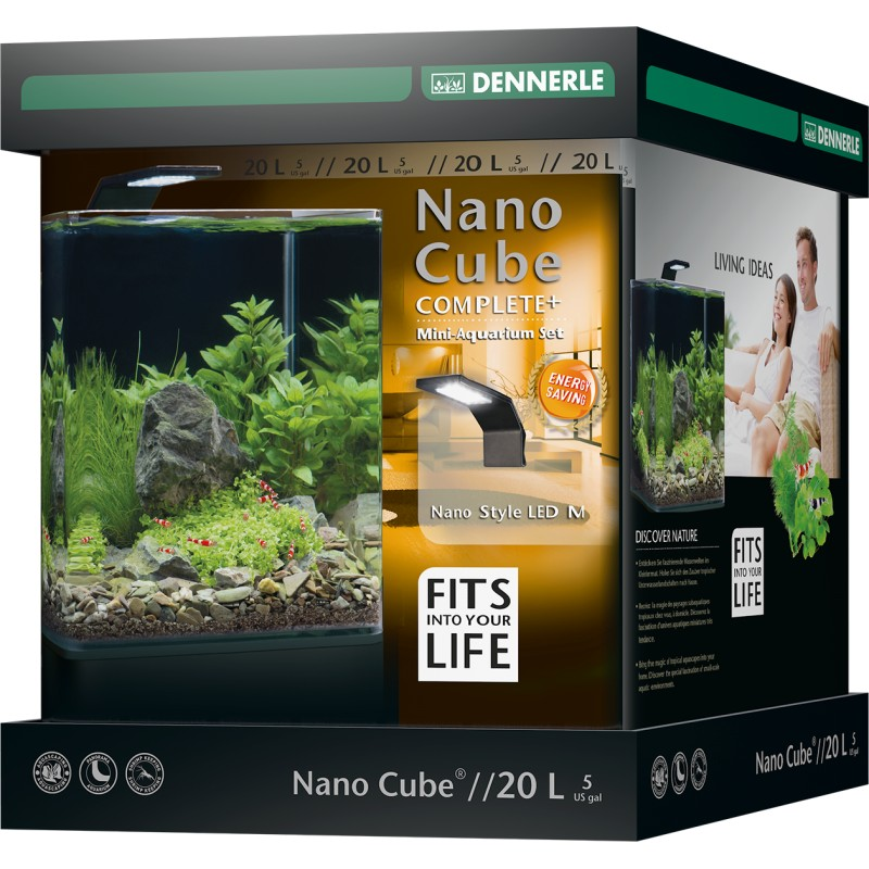dennerle nano cube 20l complete plus style led. Black Bedroom Furniture Sets. Home Design Ideas