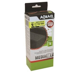 Aquael Unifilter/UV 750/1000 Sponge Set (3 pcs)