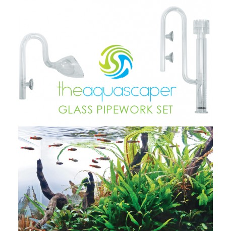 The Aquascaper Glass Pipework Set 16mm