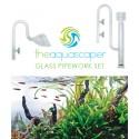 The Aquascaper Glass Pipework Set 16mm