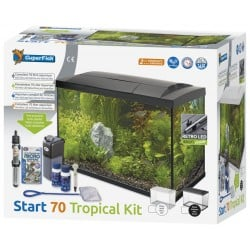 Superfish Start 70 Tropical Tank Set Black