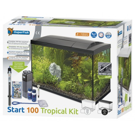 Superfish Start 100 Tropical Tank Set Black
