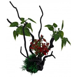Superfish Artificial Spiderwood with Plant Large