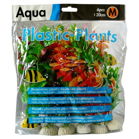 Superfish Aqua Plastic Plants Medium (6 pcs) 20cm