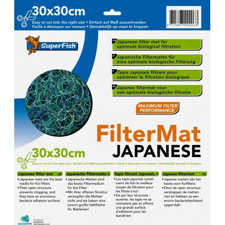 Superfish Japanese Filter Mat 30x30x3.5cm